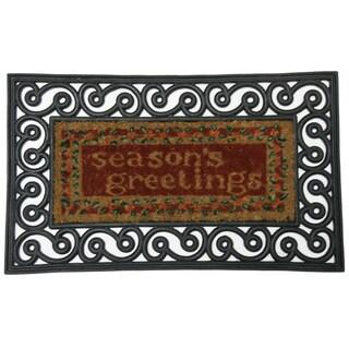 Rubber-Cal 'Season's Greetings' Coco Coir Doormat (18 x 30)