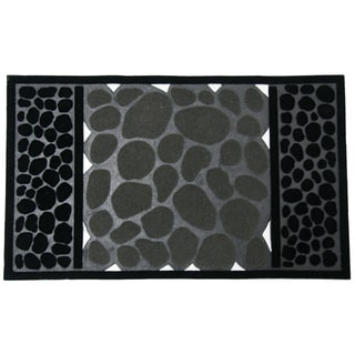 Rubber-Cal 'River Rocks' Rubber Doormat (18 x 30)