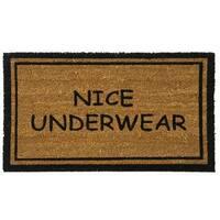 Rubber-Cal 'Nice Underwear Funny Doormat' Coconut Mat (18 x 30)