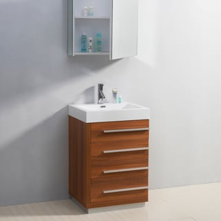 Virtu USA Bailey 24-Inch Single Sink Bathroom Vanity Set
