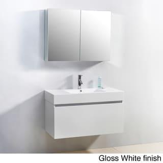 Virtu USA Zuri 39-Inch Single Sink Bathroom Vanity Set