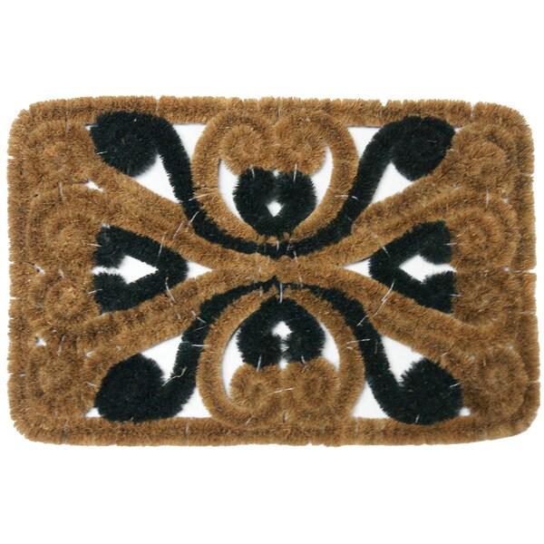 Rubber-Cal 'Marbella' Coir Door Mat (16 x 24)