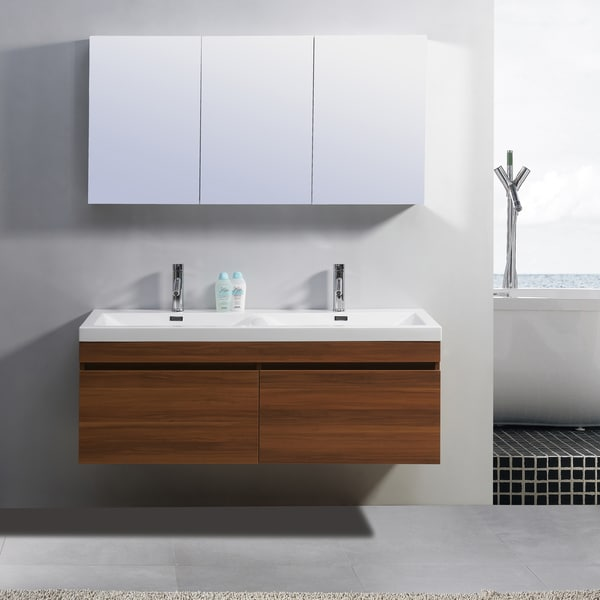virtu usa zuri 55 inch double sink vanity free shipping today 15623688. Black Bedroom Furniture Sets. Home Design Ideas