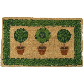 Rubber-Cal 'Grandmas Plants' Coco Welcome Door Mat (18 x 30)