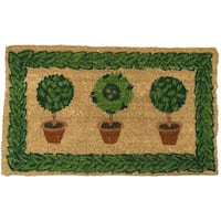 Rubber-Cal 'Grandma's Plants' Coco Welcome Door Mat (18 x 30)