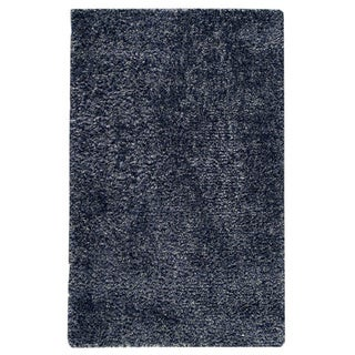 M.A.Trading Hand-woven Malibu Blue Wool/ Polyester Rug (5' x 8')