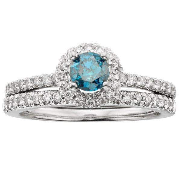 Shop Sofia 14k White Gold 1ct Tdw Igl Certified Blue