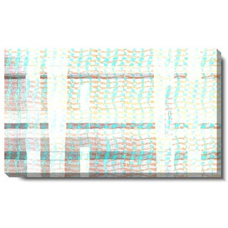 Studio Works Modern 'Luxor Waves - Aqua' Gallery Wrapped Canvas