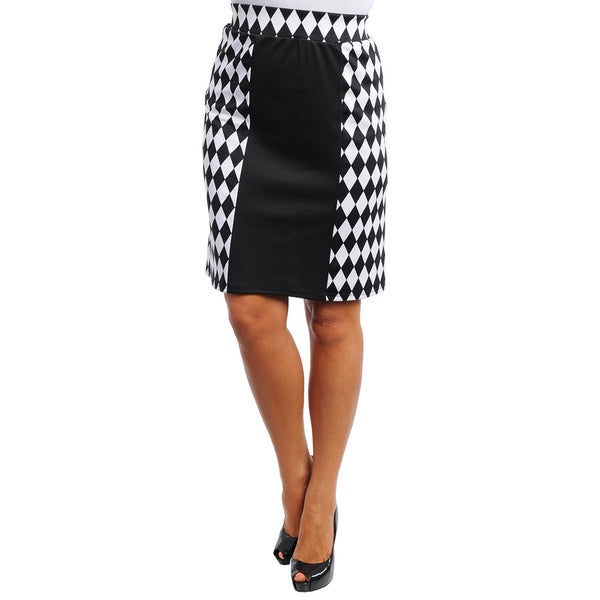 bee2c3613 Shop Stanzino Women's Plus Harlequin Print Skirt - Free Shipping On ...