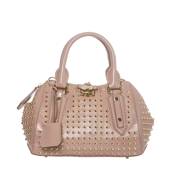 Burberry 'Blaze' Small Pink Studded Leather Satchel