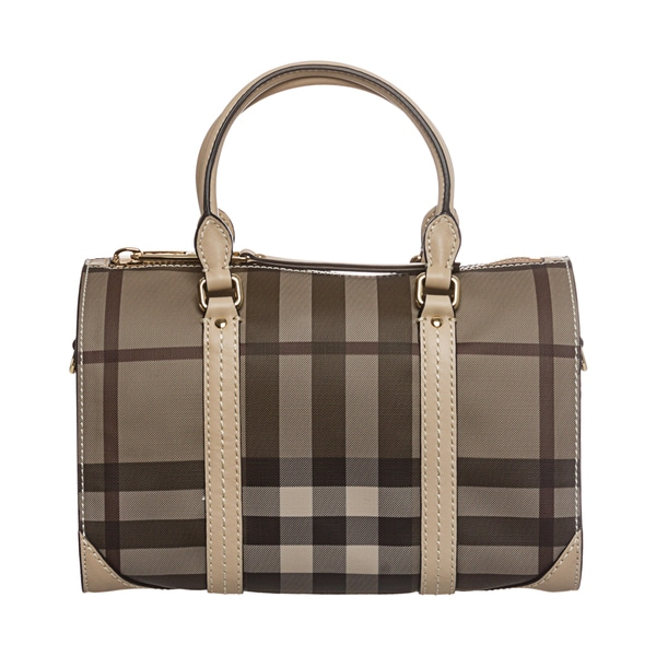 Burberry Trench Small Smoked Check Saddlestitch Bowling Bag