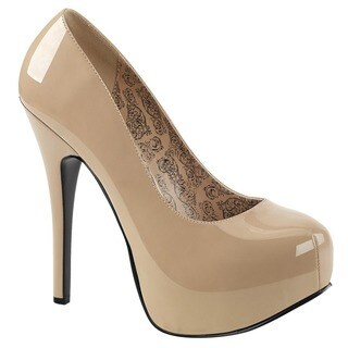 Bordello 'TEEZE-06W' Women's Hidden Platform Pumps
