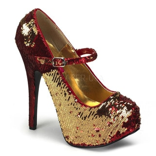 Bordello Women's 'Teeze-06R' Sequin Hidden Platform Pumps