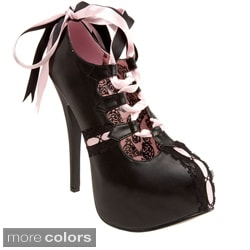 Bordello Teeze-13 Women's Ribbon-laced Pumps