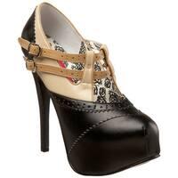 Bordello 'TEEZE-24' Women's Heel Double Buckle Strap Pumps