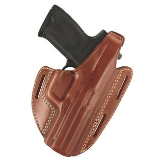 Gould & Goodrich Brown Three Slot Pancake Holster 803-G20