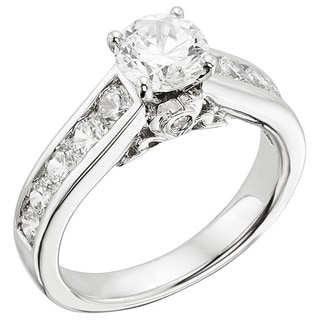 Sofia 14k White Gold 2ct TDW Certified Diamond Engagement Ring (H-I, I1)