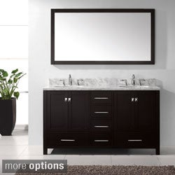 Virtu USA Caroline Avenue 60-inch Double Sink Bathroom Vanity Set