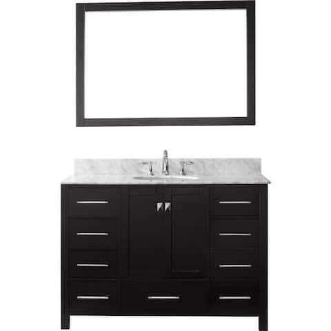 Virtu USA Caroline Avenue 48-in Single Sink Vanity w/ Top & Mirror