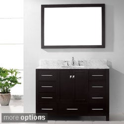 Virtu USA Caroline Avenue 48-inch Single Sink Bathroom Vanity Set