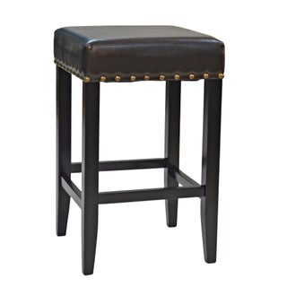 Marco 25-inch Upholstered Nailhead Counter Stool