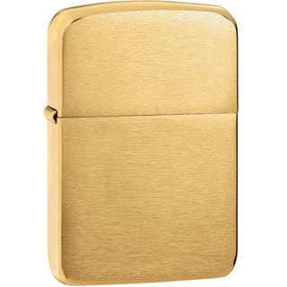 Zippo Lighter Brushed Brass 204B