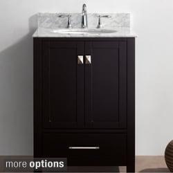 Virtu USA Caroline Avenue 24 Inch Single Sink Bathroom Vanity Set