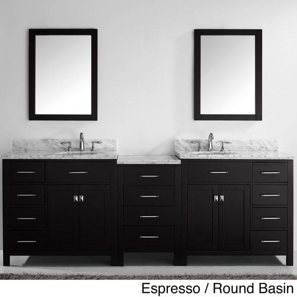Bathroom double vanity sink basin cabinet set bathroom vanity bathroom - Virtu Usa Caroline Parkway 93 Inch Double Sink Bathroom