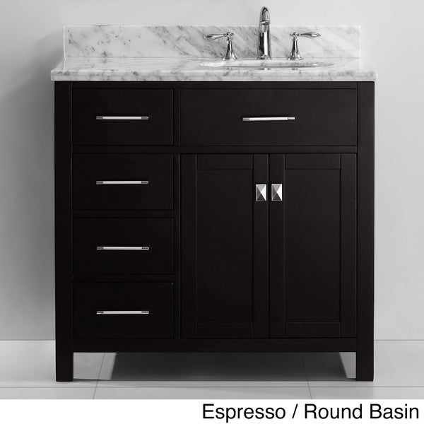 Virtu Usa Caroline Parkway 36 Inch Single Sink Bathroom