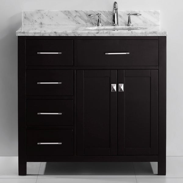 Ordinaire Virtu USA Caroline Parkway 36 Inch Single Sink Bathroom Vanity Set