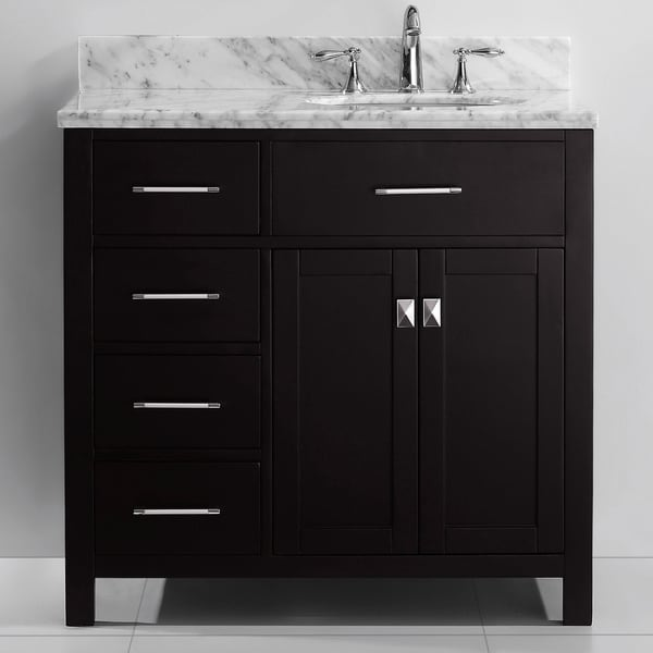 36 inch bathroom vanity with sink. Virtu USA Caroline Parkway 36 inch Single sink Bathroom Vanity Set