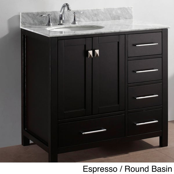 virtu usa caroline avenue 36 inch single sink bathroom vanity set