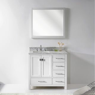 Silkroad exclusive natural stone countertop bathroom for Virtu usa caroline 36 inch single sink bathroom vanity set