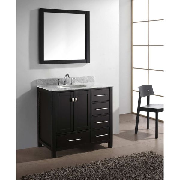 Virtu usa caroline avenue 36 inch italian carrara white for Virtu usa caroline 36 inch single sink bathroom vanity set