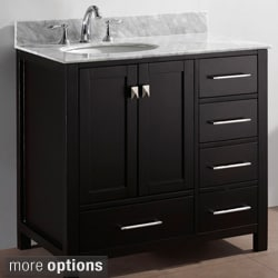 Marble bathroom vanities vanity cabinets Virtu usa caroline 36 inch single sink bathroom vanity set