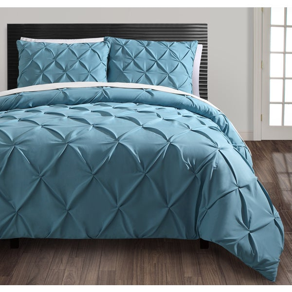 VCNY Carmen Blue and Purple 3-piece Duvet Cover Sets (Set of 2)