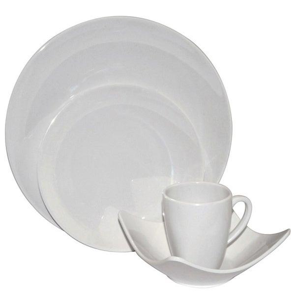 White Melamine 4-piece Dinnerware Set