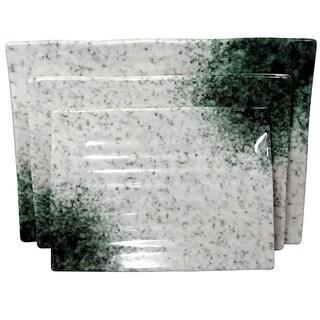 Marble Melamine 3-piece Party Tray Set