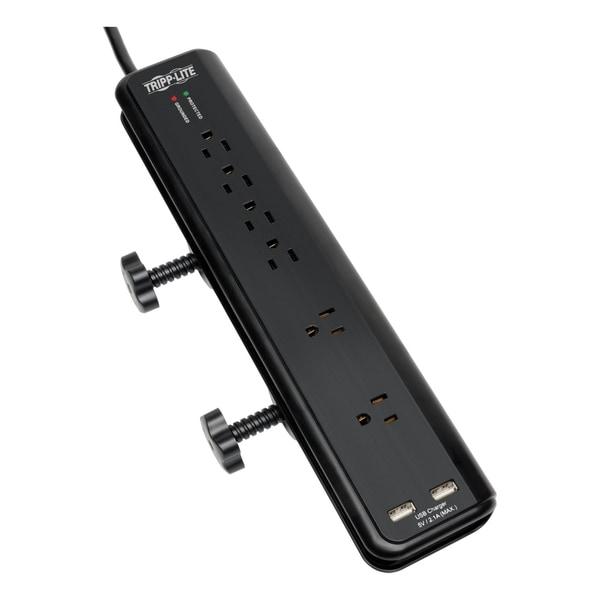 Tripp Lite Surge Protector Power Strip Desk Mount 120v Usb