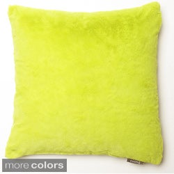 Aurora Home Faux Mink 12x12-inch Decorative Pillows (Set of 2)