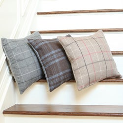 Aurora Home Felted Checker Print 18-inch Decorative Pillow Cover (Set of 2)