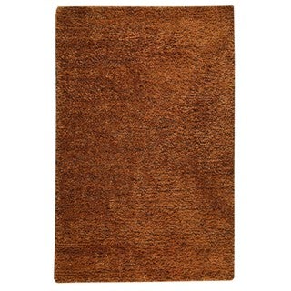 M.A.Trading Hand-woven Malibu Orange Wool/ Polyester Rug (8' x 10')