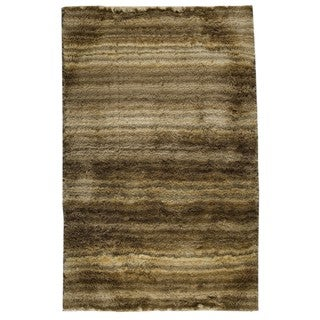 M.A.Trading Hand-woven Delhi Beige Polyester Rug (5' x 8')