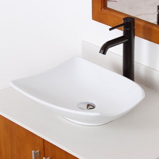 Elite High Temperature Ceramic Trapeziform Bathroom Sink/ Faucet Combo C104F371023ORB
