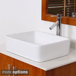 Elite High Temperature Ceramic Bathroom Sink Faucet Set