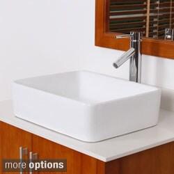 Elite High Temperature Ceramic Bathroom Sink Faucet Set