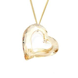 Swarovski Loveheart Golden Shadow Pendant Necklace