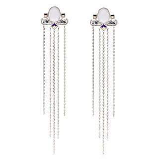 Swarovski Triumphal Long White Pierced Earrings