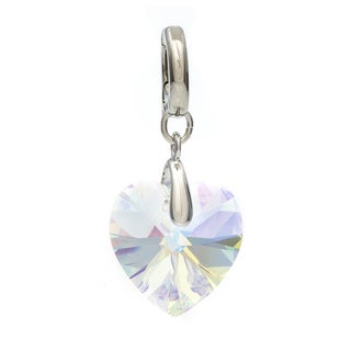 Swarovski Aurore Boreale Crystal Heart Charm