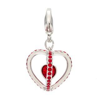 Swarovski Heart Cage Charm